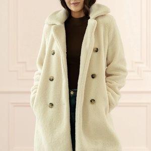 Rachel Parcell Faux Shearing Coat XS